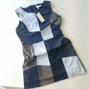 Urban Outfitters Blue Patchwork Dress